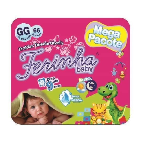 c583a3568 Fralda Ferinha Baby mega tamanho gg com 66 fraldas