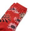 Flowers Socks  Vermelha