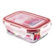 POTE RETANG VIDRO SANREMO 330ML | GLASS RECTANGULAR CONTAINER SANREMO 330ml | POTE RETANG VIDRIO SANREMO 330ML