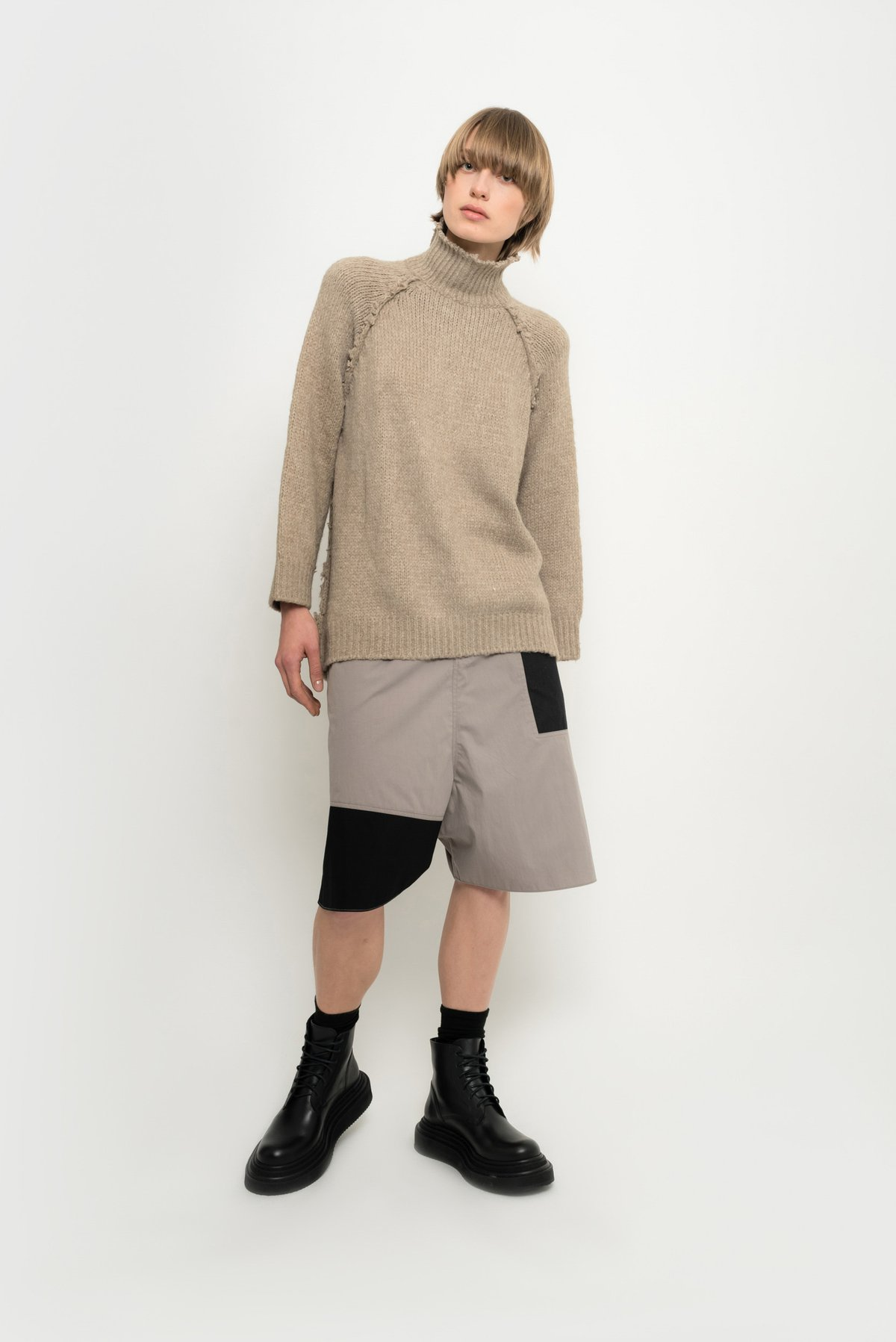 tricot suéter oversized gola alta
