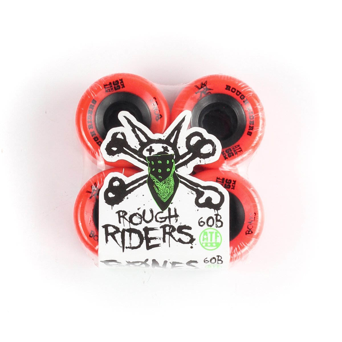 RODA BONES ROUGH RIDERS 56MM RED ALL TERRAIN