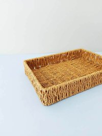 Cesta Fibra Natural Fringes