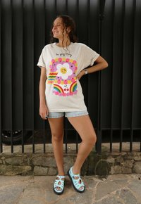 DO YOUR THING t-shirt - mescla clara (unissex)
