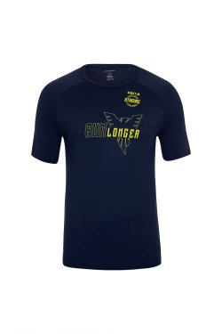 Camiseta Athenas Longer 21K 2017 Mc Masc Azul