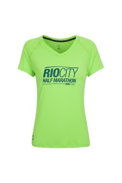 Camiseta Rio City 2018 Mc Fem Verde