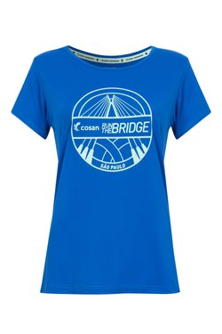 Camiseta Run The Bridge Azul e Verde Fem