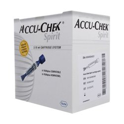 Cartucho Accu Chek Spirit 3.15ml c/25