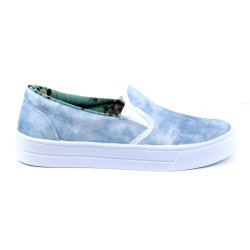 Tenis Tag Shoes Slip On Jeans Azul