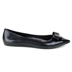 Sapatilha Tag Shoes PVC Bico Fino Colors Preto