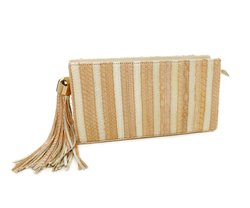 BOLSA CLAUDIA PYTHON BLUSH & OFF WHITE