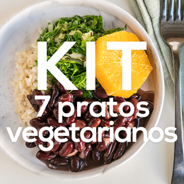 Kit 7 Pratos Vegetarianos