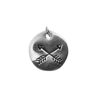 Pingente - Crossed Arrows 100% Prata | Crossed Arrows Pendant 100% Silver