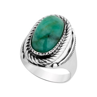 Anel - Kiowa 100% Prata & Esmeralda | Ring – Kiowa 100% Silver and Emerald