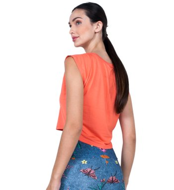Blusa Run Orange Visco