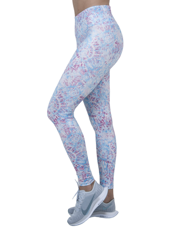 Legging  Sublimação  Pink And Blue