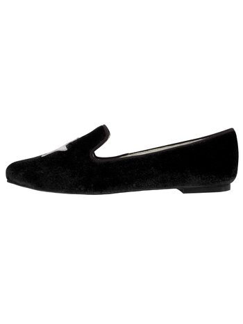 Slipper Velvet Black