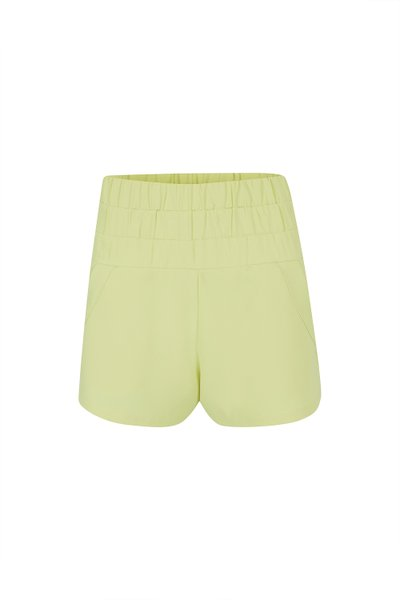 Shorts Crepe Solid Limonada Ver20