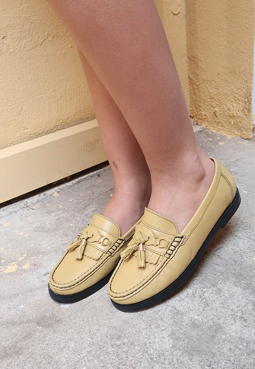 COLLEGE SHOES mocassim - amarelo antigo