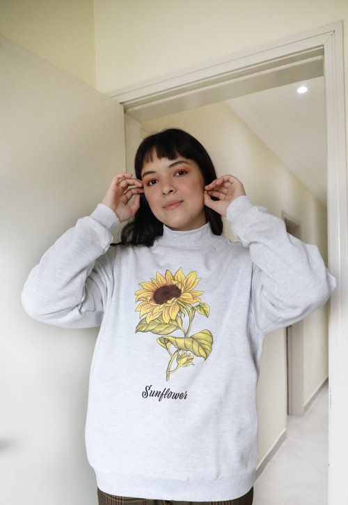 SUNFLOWER moletom oversized - mescla clara (unissex)
