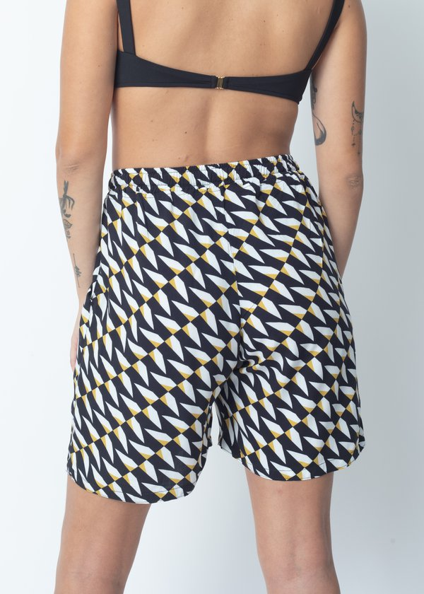 SHORT STITCH WEAR GEO AZUL AMARELO