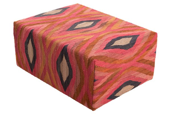 Foto do produto PUFF KILIM LOSANGE MULTI COLOR