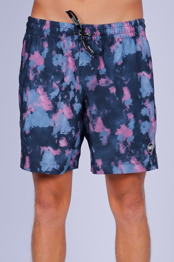 SHORT OCEANO TIEDYE PERFORMANCE STRETCH