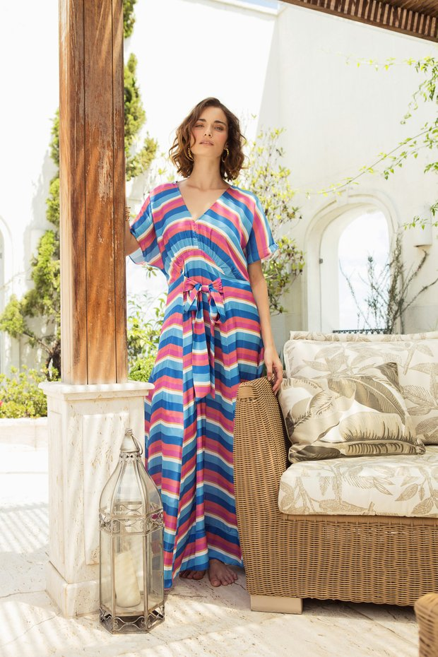 Vestido Carol Joyful Stripes
