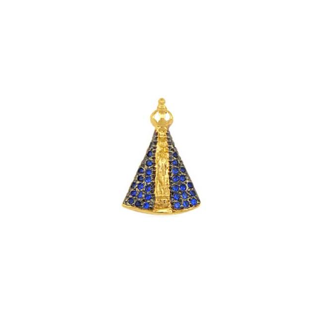 97900153de591 Pingente Nossa Senhora Aparecida Folheado a Ouro 18k - New Bijoux