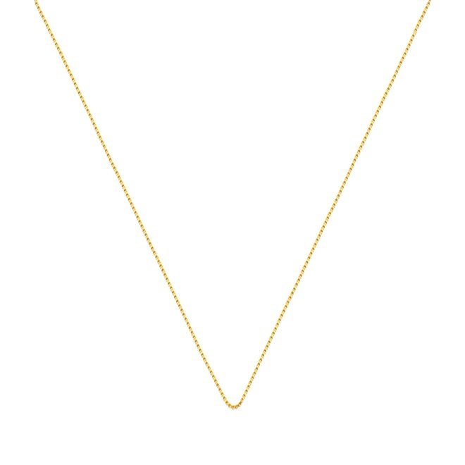 41fa70d8dd011 Corrente Veneziana Lisa 50 cm Folheada a Ouro 18k - New Bijoux