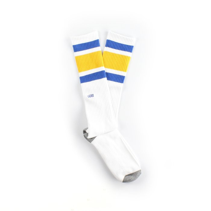 MEIA VANS STRIPE KNEE HI WHITE BLUE YELLOW