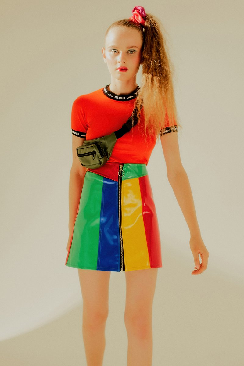 Saia Bruna Colorblock