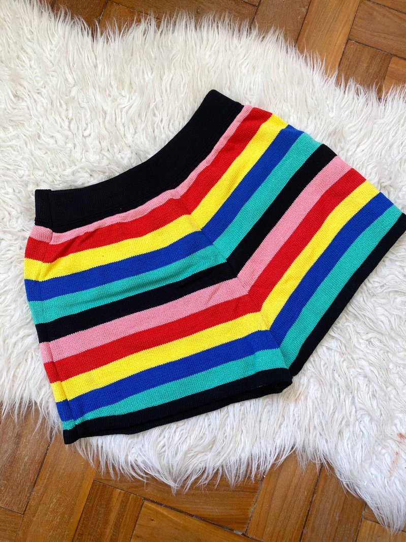 Short Antonieta Knit Listrado Colorido