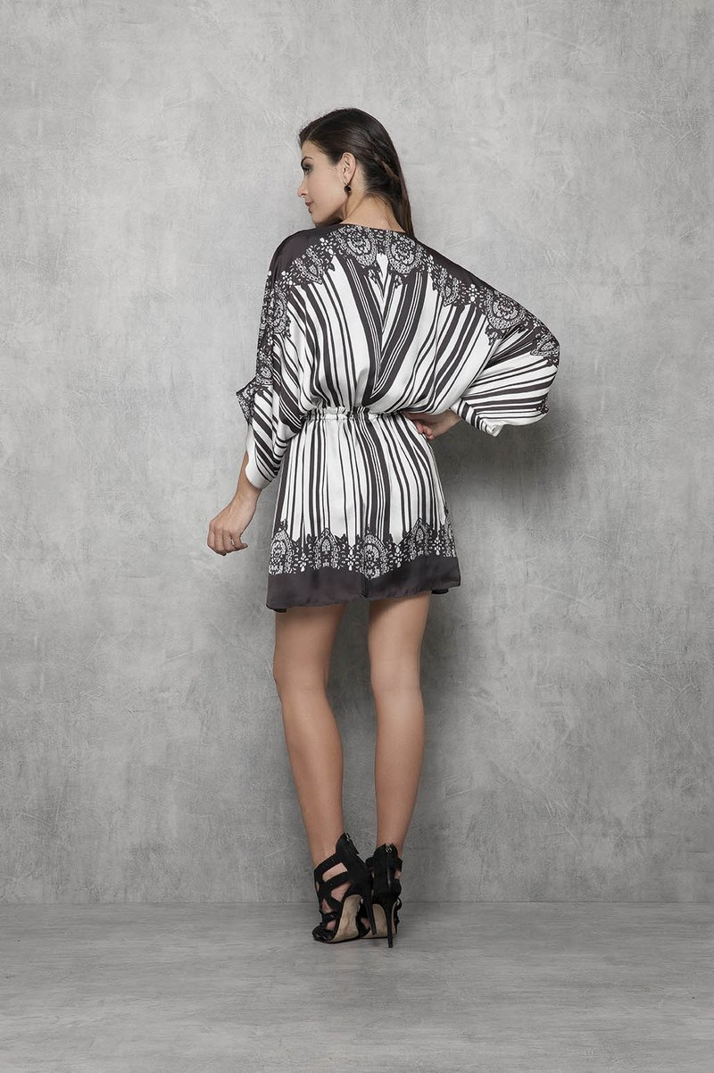 Vestido Stripe Black And White