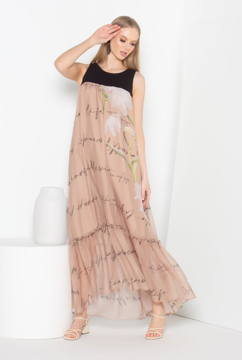 Vestido Midi Print Writing