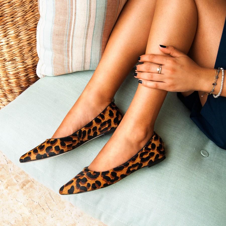 5262c2d01a Sapatilha Bico Fino Animal Print - Vinci Shoes