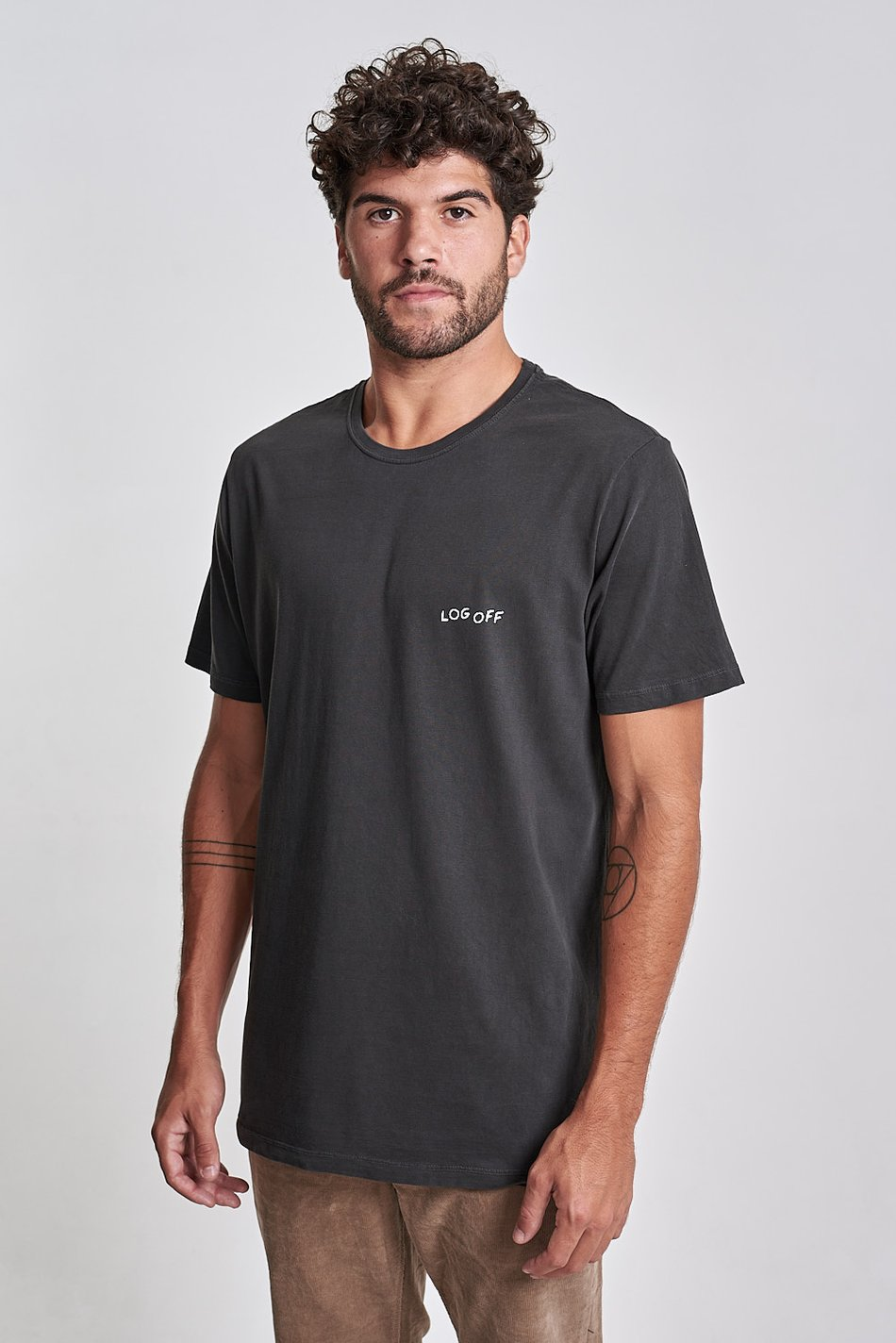 Camiseta Log Off Preto Old