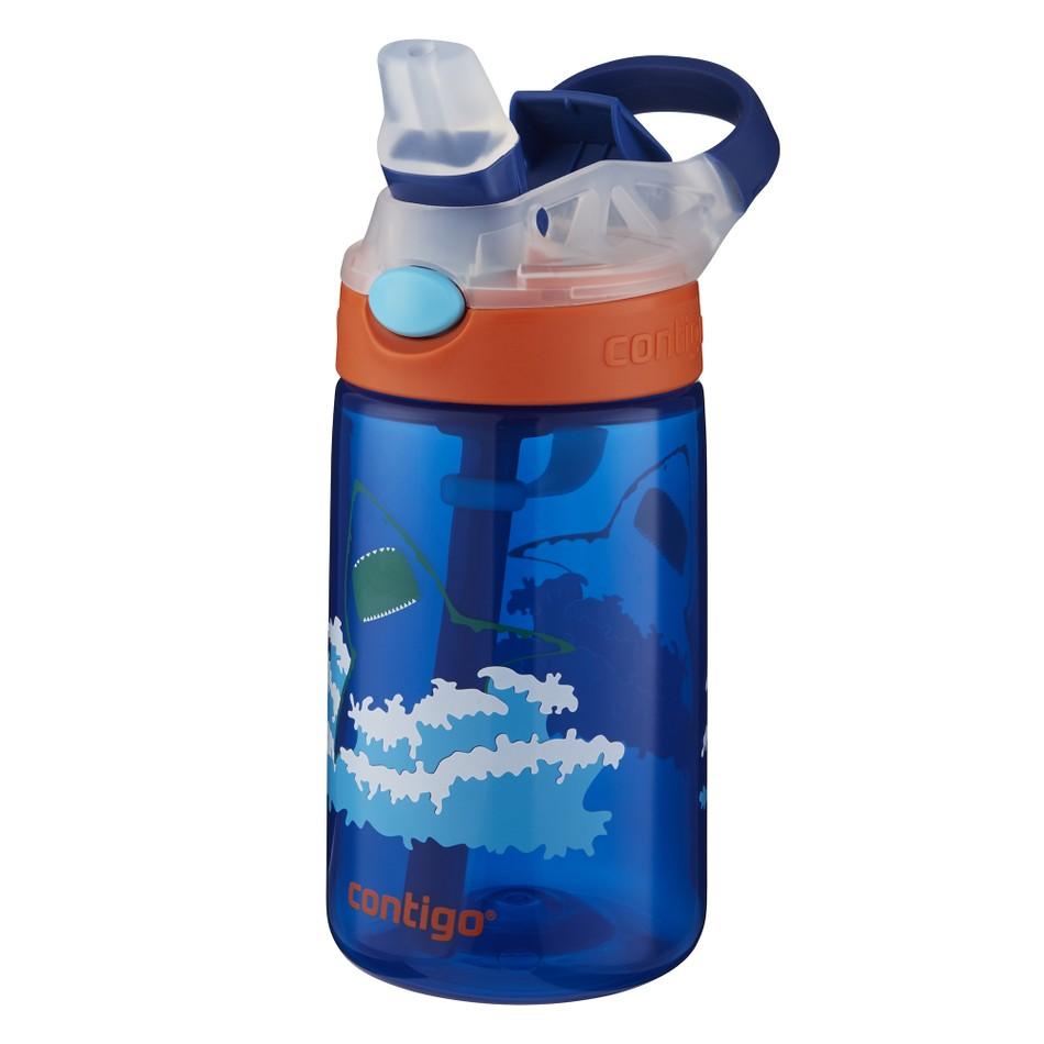 Garrafa De Agua Infantil Gizmo Flip Azul 414ml Contigo Invicta