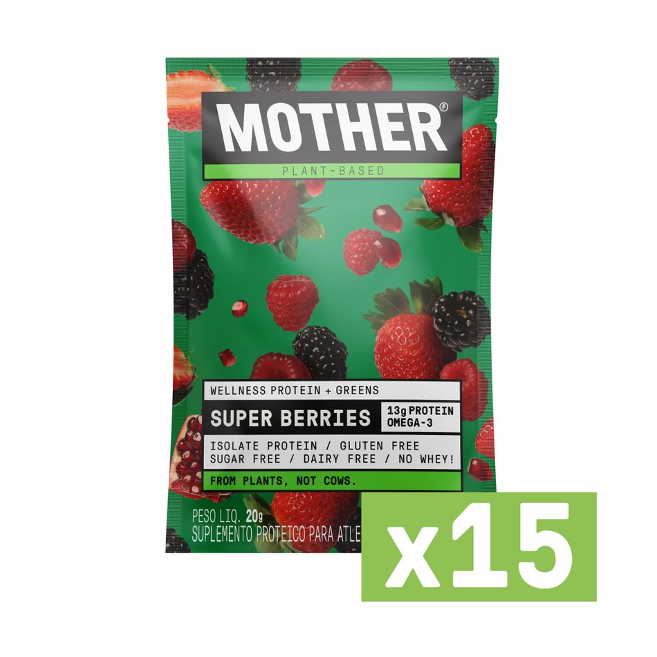 Suplemento Alimentar Wellness & Greens Super Berries - 15 Sachês