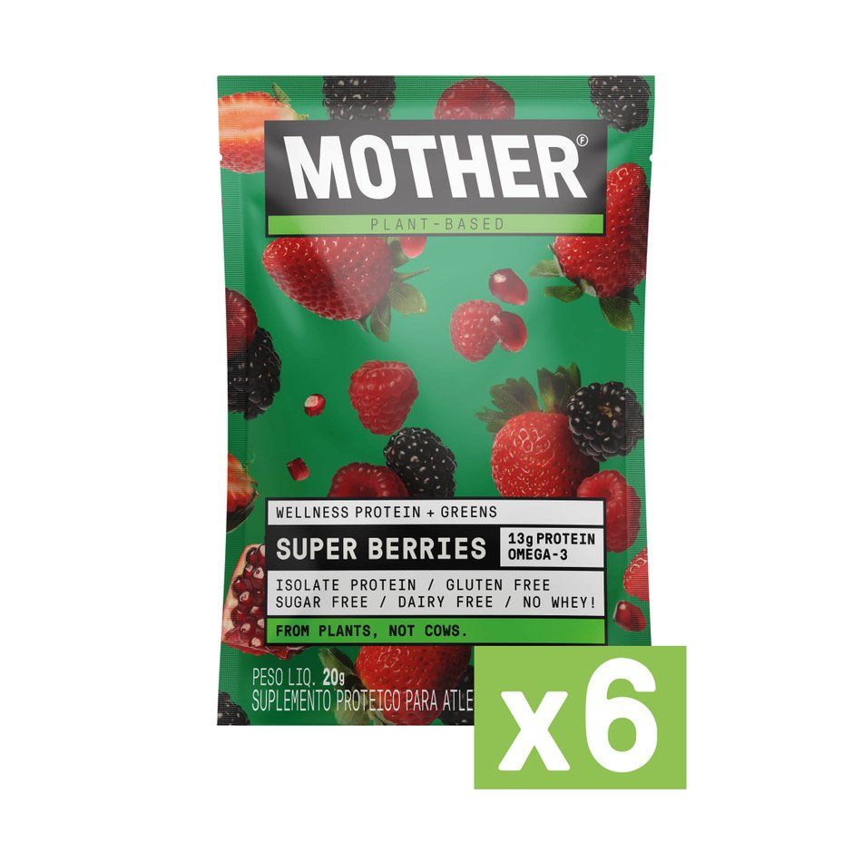 Suplemento Alimentar Wellness & Greens Super Berries - 6 Sachês