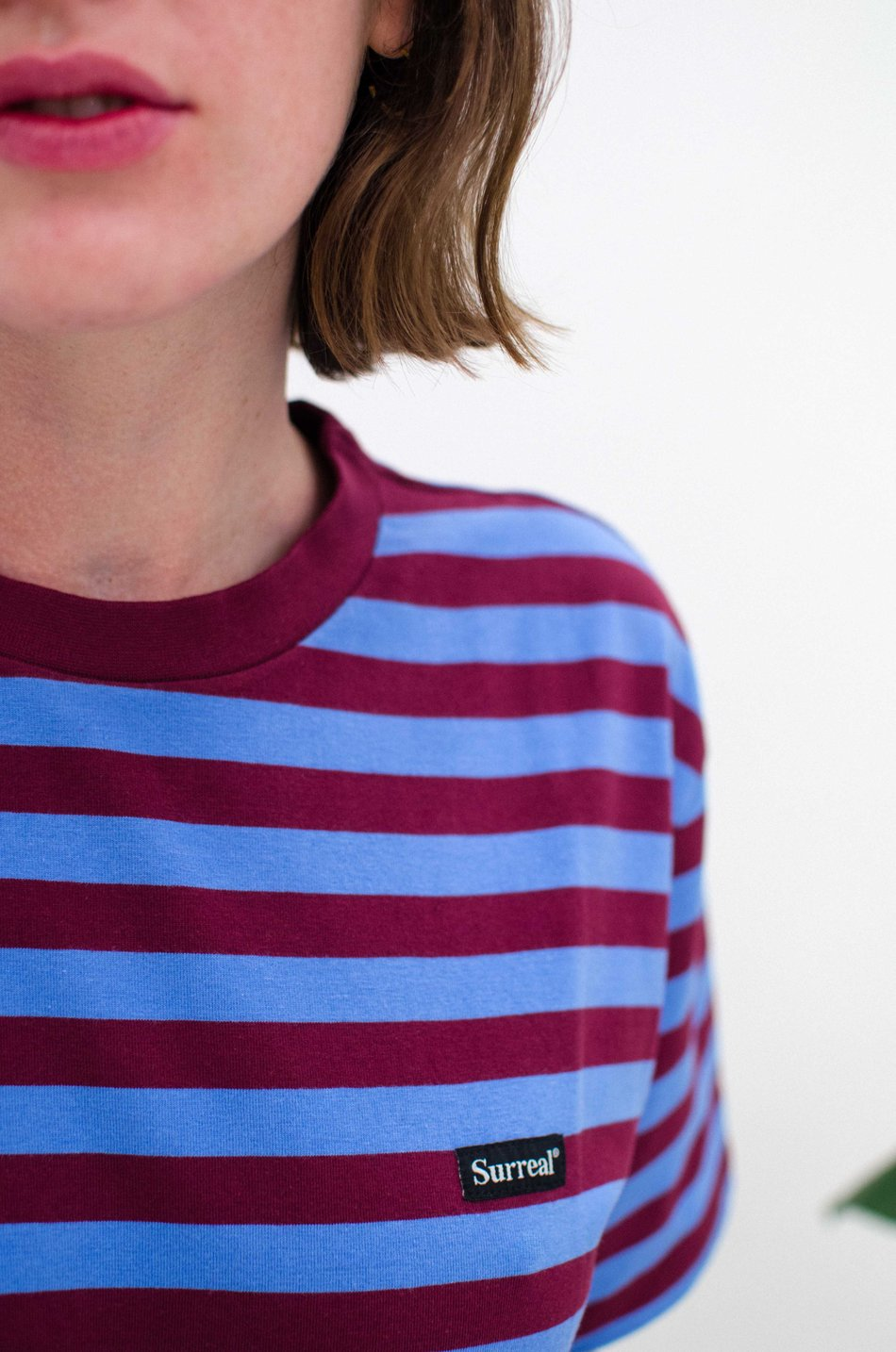 Camiseta Bordeaux Blue Stripes