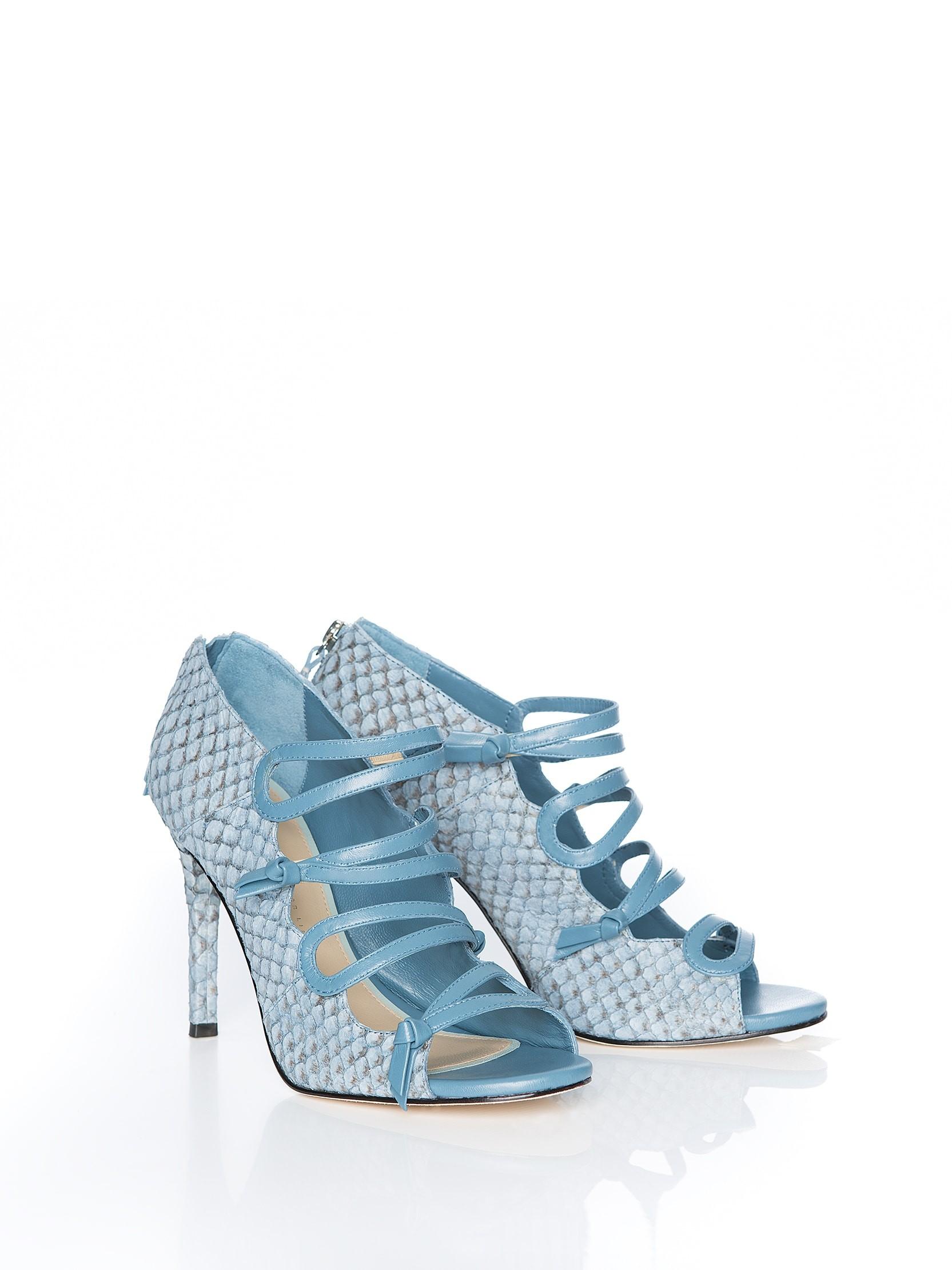 Sandália Isabela Azul Jeans Tamanho: 39 - Cor: Azul Jeans