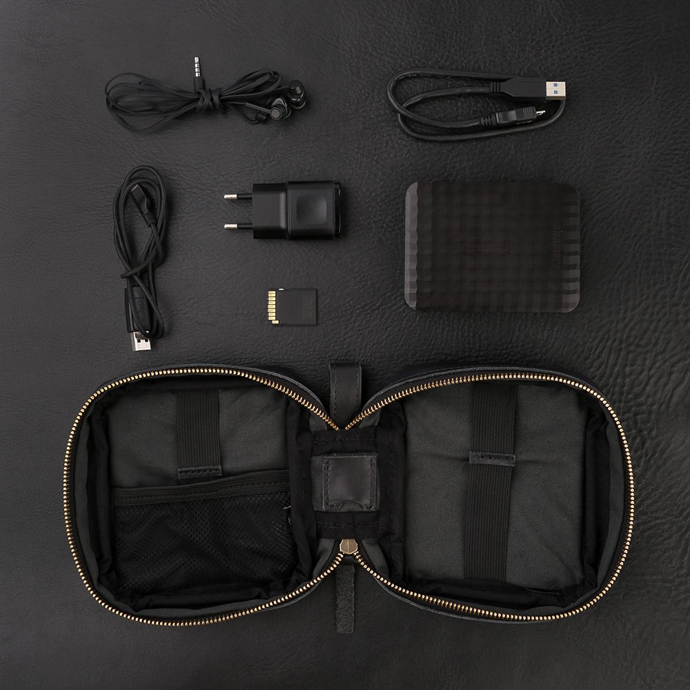 Mini TRAVEL TECH Pouch - Black