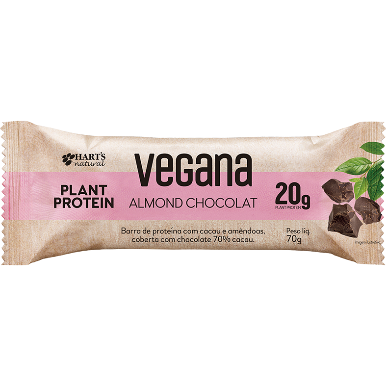 Display de Barra de Proteína Vegana Almond Chocolat