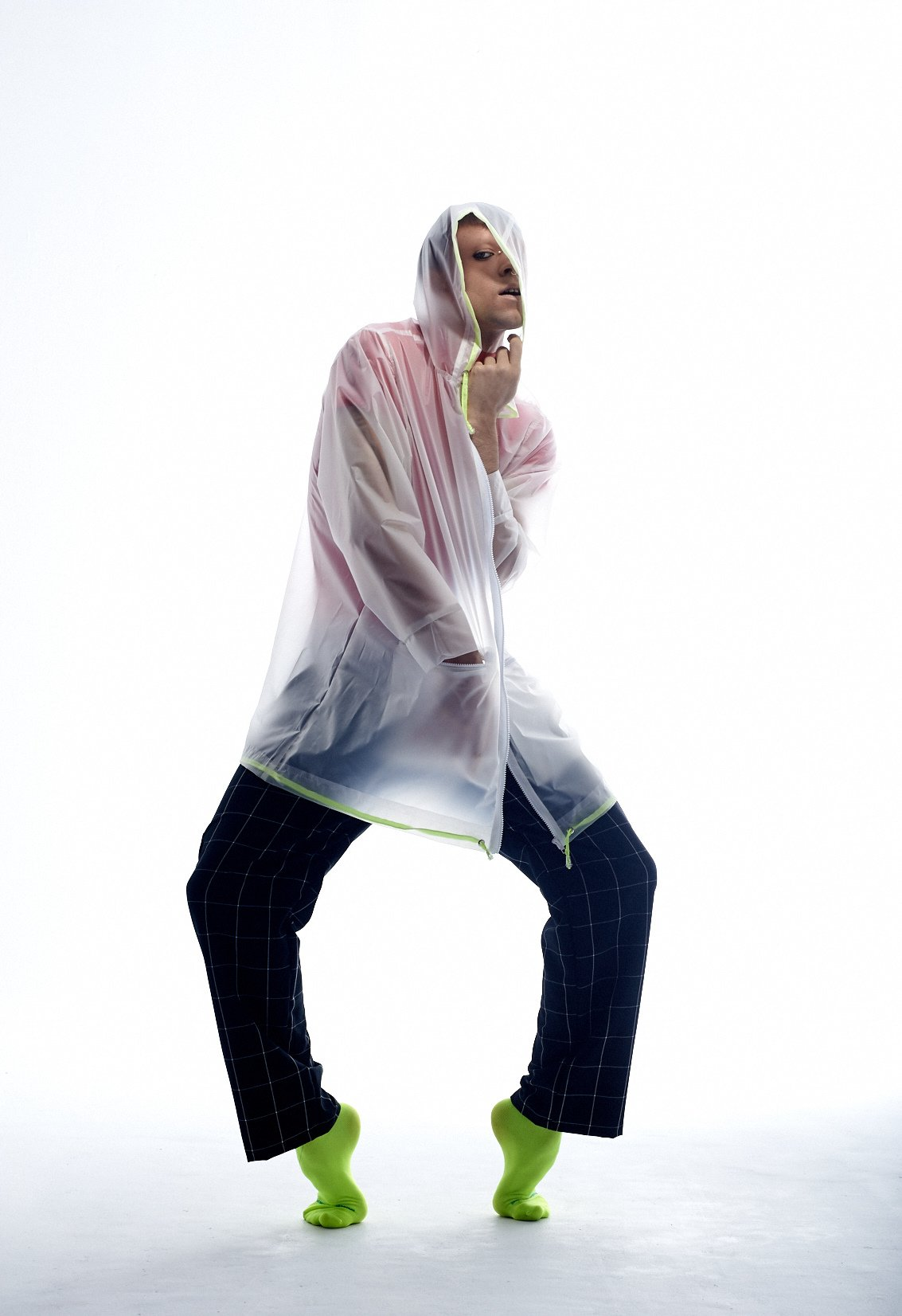 Raincoat Ed. #13 Translucent White/Neon