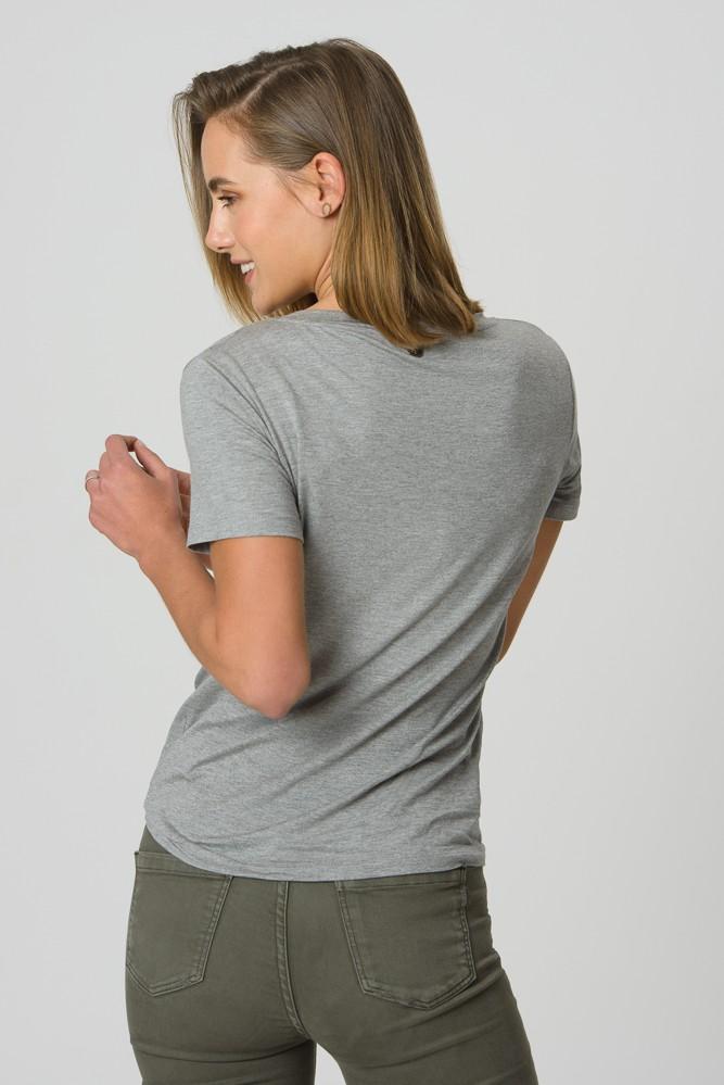 T-Shirt Gola V Cinza Mescla Claro