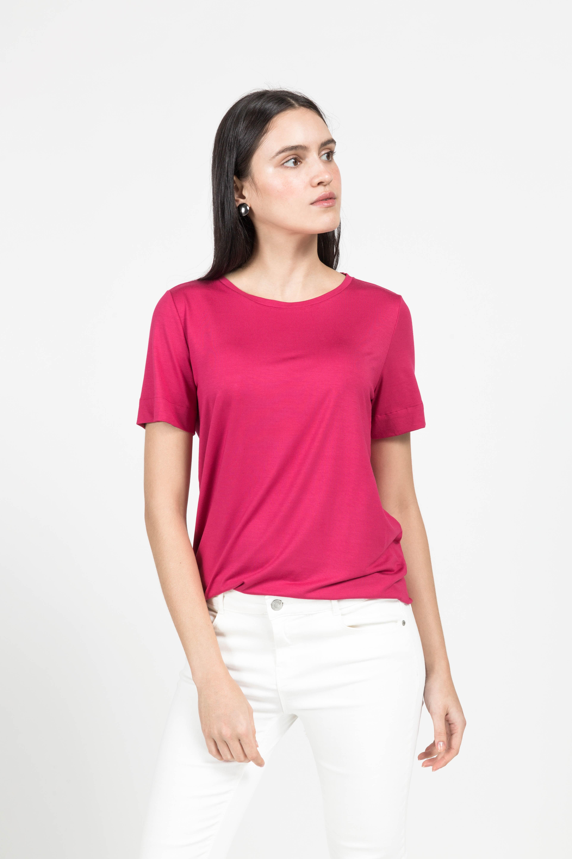 T-Shirt Gola Careca Modal - Pink Lemon