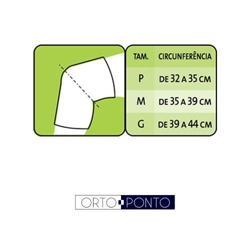 5d1f0a0aa Joelheira Ortopédica Esporte Mercur com Orifício Reforçado - Ortoponto