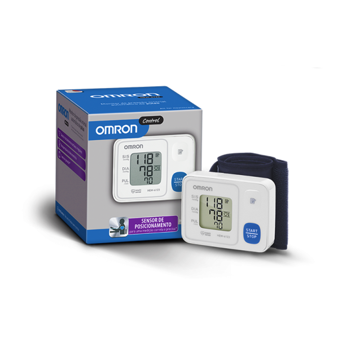 f6f3a513d Aparelho Medidor de Pressão Digital Automático de Pulso HEM-6122 Omron