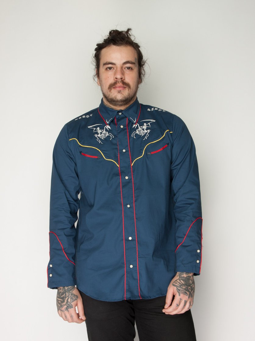 Camisa Ghost Riders Azul