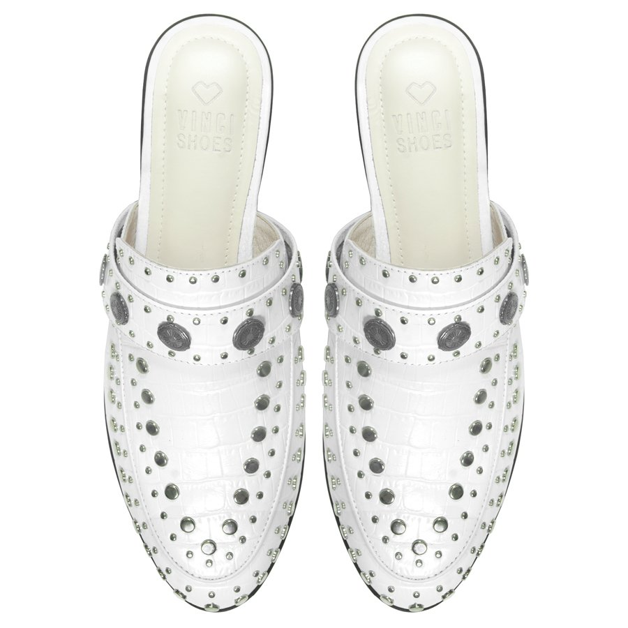 Mule Beta Studded White